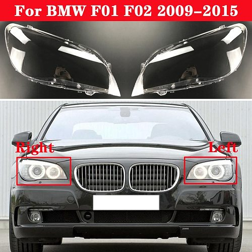 For BMW 7 Series F01 F02 2009-2015 Car Front Headlight Lens Cover Auto Headlamps Lampcover Transparent Lampshades Lamp Shell