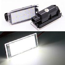 2Pcs Car LED Number License Plate Light For Renault Megane 2 Clio Laguna 2 Megane 3 Twingo Master Vel Satis