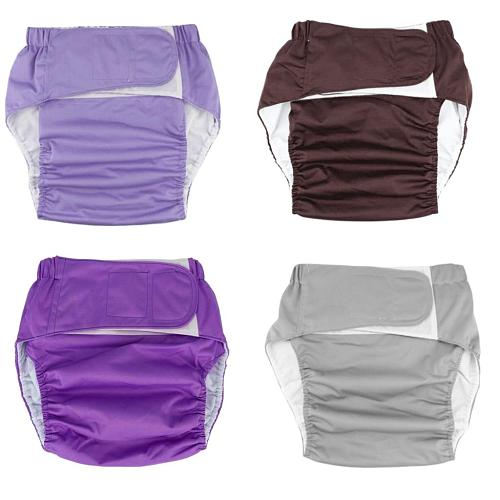 Adult Cloth Diaper Nappy Reusable Washable for Men Women Disability Incontinence Reusable Insert Hook Loop Feminine Hygiene pad