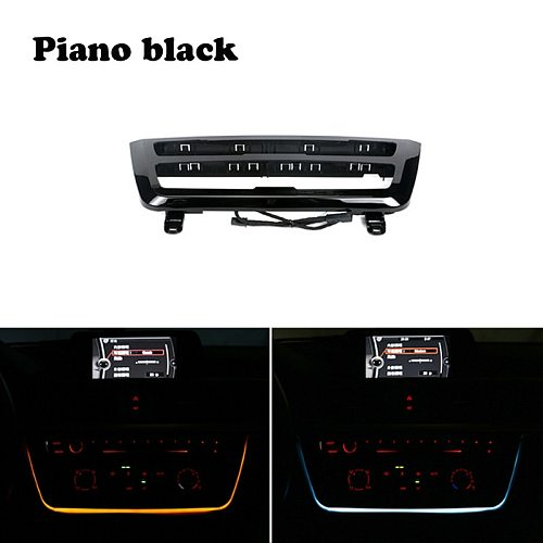 radio trim led dashboard center console AC panel light with blue and orange color Atmosphere light For BMW 3 & 4 series F30 LCI