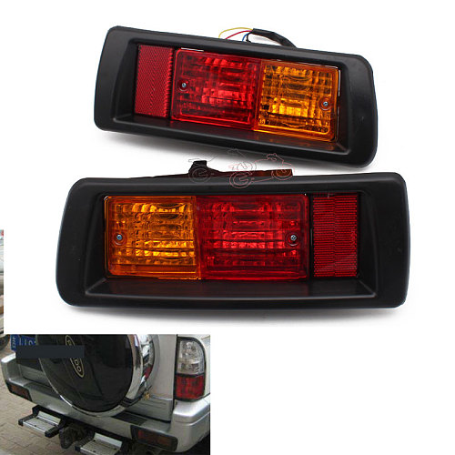 Car Rear Bumper Fog Light Mark Light for Toyota Land Cruiser Prado (90) 1997 1998 1999 2000 2001 2002 Red LED Tail Lights
