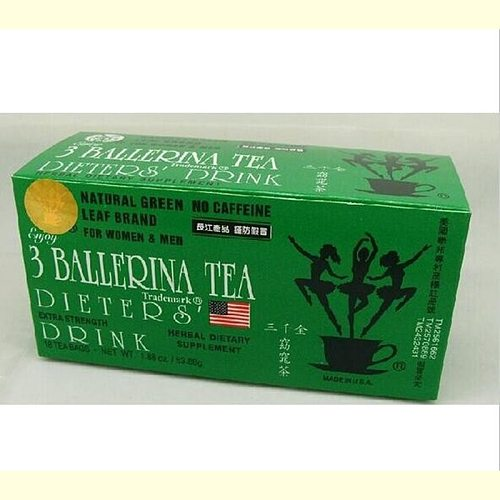 3 Ballerina Tea Slimming Plant Tea to Burn Fat and Lose Weight Fast Herbal Detox Drink Weight Loss Product, non- Slim Patch