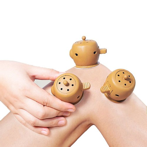 SHARE HO Mini Tube Stickers Moxibustion Box Acupuncture Point Heating Therapy Warm Meridian Chinese Moxa Stick 10 years Roll