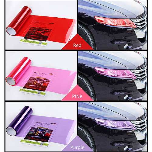 Car Light Sticker 30x60cm/30x100cm vinyl car wrap Car-styling Auto Tint Headlight Self Adhesive Car Smoke Fog Light Taillight