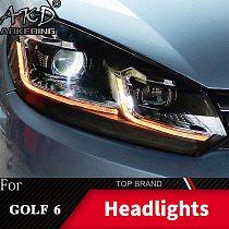 Head Lamp For VW Golf6 MK6 2009-2013 golf 6 Headlights Fog Light Daytime Running Lights DRL H7 LED Bi Xenon Bulb Car Accessories