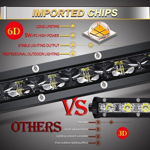 CO LIGHT 6D 30W 60W 90W 120W 150W 180W 210W 240W LED Work Light Bar Offroad Led Worklights 12V 24V Led Bar for Niva 4X4 ATV SUV