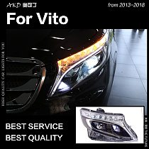 AKD Car Styling Head Lamp for Benz Vito Headlights 2013-2019 W447 LED Headlight LED DRL Projector Lens Dynamic Auto Accessories