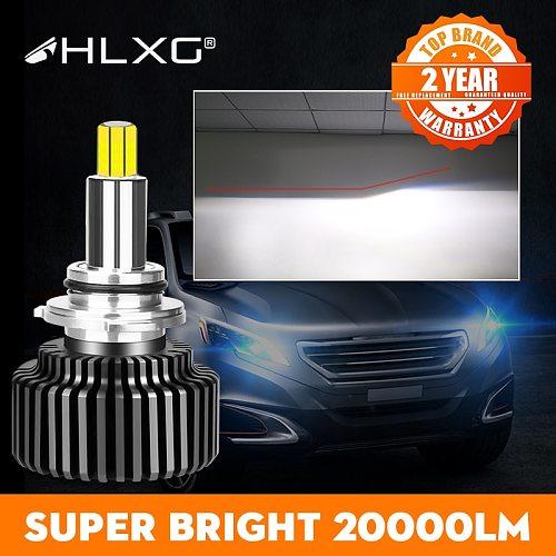 360 H4 H11 LED 9012 HIR2 H7 H1 H8 HB3 9005 HB4 9006 Led Car Headlight 20000LM 6000K Fog Lamp 12V luces led para auto nebbia hlxg