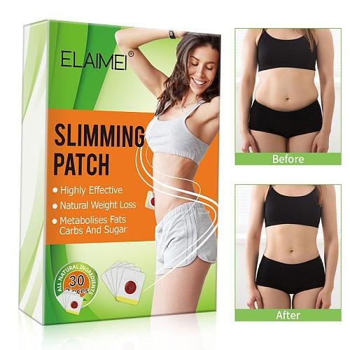 30PCS/box Slim Patch Weight Loss Pads Magnetic Abdominal Slimming Belly Button Patch Navel Sticker Useful Slimming Product New