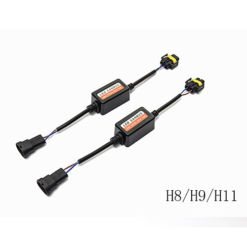 PANDUK 2PCS H1 H11 H4 H7 LED 9005 9006 Canbus Car Headlight Decoder Wiring Adapter DRL LED Lamp Error Canceler Fog Light Canbus
