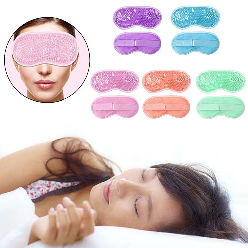 Reusable PVC Gel Beads Eye Mask Flexible Soothing Relaxing Sleeping Ice Goggles for Hot Cold Therapy