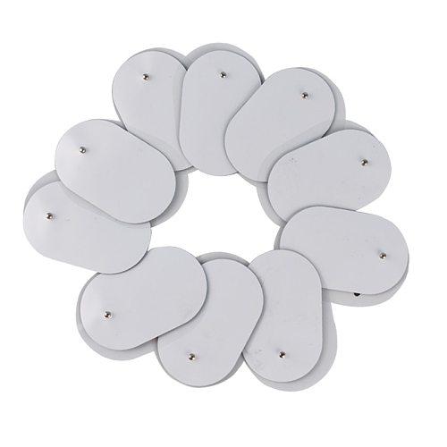 10Pcs Reusable 3.5mm Plug Gel Tens Electrode Pads for Electric Massager Acupuncture Pulse EMS Nerve Muscle Stimulator Massage