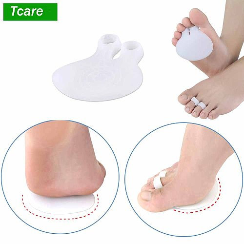 Tcare 1Pair Metatarsal Pads Ball of Foot Cushions Forefoot Insoles for Metatarsal Support and Foot Pain Relief Stay Comfortably