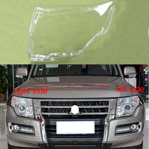 For 2007-2018 Mitsubishi Pajero V87 V93 V97 Lamp Cover Headlamp Cover Shell Transparent Lampshade Headlight Cover Lens Glass