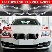 Auto Light Caps For BMW 5 Series F10 F18 528i 530i 535i 2010-2017 Car Headlight Cover Lampcover Lampshade Lamp Glass Lens Case