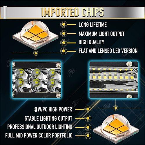 CO LIGHT Super Slim 12D 8  20  32  LED Light Bar Spot Flood 60W 180W 300W Led Bar 4x4 for ATV SUV Offroad LED Work Light 12V 24V