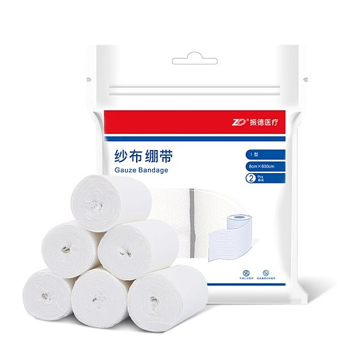 Medical gauze bandage for wrap the wound ,Comfortable and breathable,2 rolls per bag