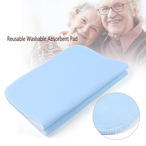 2pcs 45 * 60cm Reusable Incontinence Bed Pads 4 Layers Washable Pad Absorbent Pad For Adults Incontinence Pad Baby Bedwetting