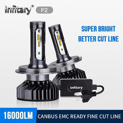 Infitary ZES 1860 Chips Led Car Headlights Bulbs H4 H7 H1 H3 H11 9005 9006 3000K 4500K 6500K Waterproof External Power Auto Lamp