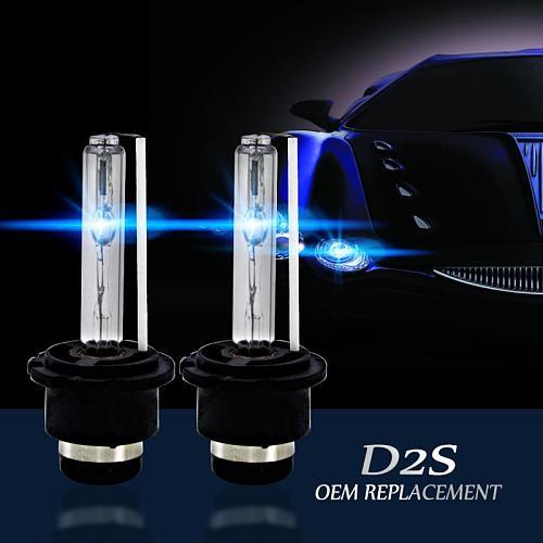 2PCs Car Headlight Bulbs Bright D2S/D2C/D2R 35W Xenon Headlight Light Bulbs OEM Replacement Car Lights Accessories