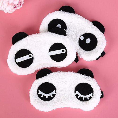 Sleep mask for eyes Health Care Tools Cute Face White Panda  Eyeshade Shading Sleep Cotton Goggles Eye Cover 3 Styles