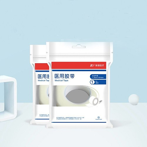ZD Medical Tape Non Woven Fabric PE Breathable Tape Transparent Waterproof Gauze Wide Surgical Dressing