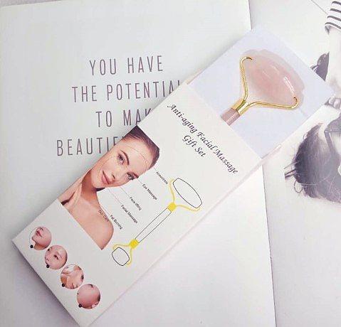 Face Lifting Tool Massager Rose Quartz Roller Slimming Natural Jade Facial Massage Roller Stone Skin Massage facial tools