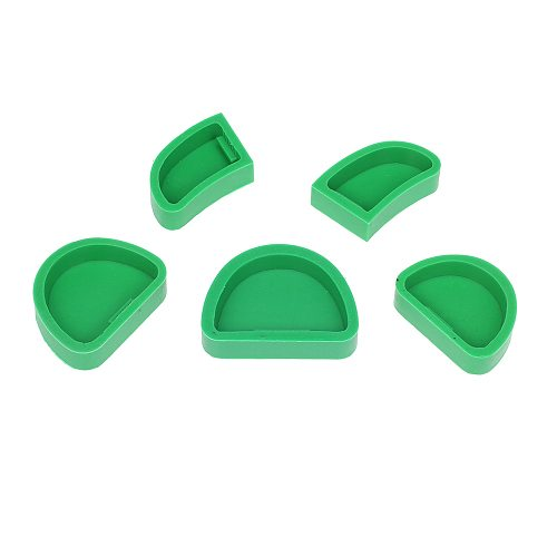 5Pcs Dental Plaster Model Mould Dental Lab Silicone Plaster Model Former Base Molds Mould without Tongue Dental Material