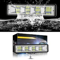 72W 12V 36V Flush Mount Offroad LED Work Light Pods 4x4 4WD ATV Truck LED Lamp For Auto Car SUV Tractor Off-road 24LED