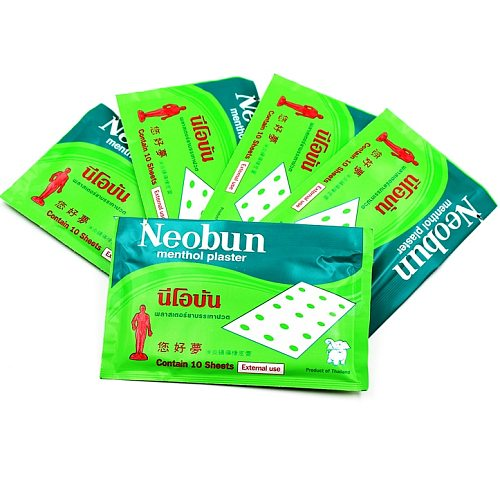 30pcs/bag Thailand Neobun Pain relief patch treatment rheumatism arthrit waist  pain Muscle menthol plaster Anti-inflammatory