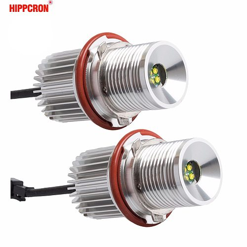 hippcron LED Marker Angel Eyes 2*20W 40W for LED Chips for Chip White/Red/Blue/Yellow for E39 E60 E61 E63 E64 E65