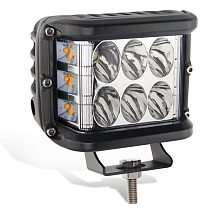 4  LED Work Light Bar Cube Side Shooter Pod White & Amber Strobe Lamp SUV Truck High Quality Aluminum Alloy Car Work Light