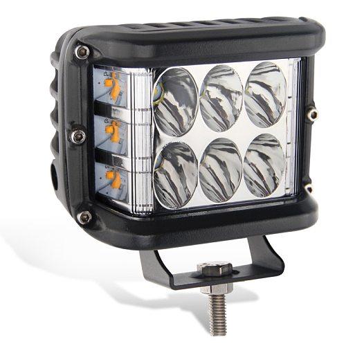 4  LED Work Light Bar Cube Side Shooter Pod White & Amber Strobe Lamp SUV Truck High Quality Aluminum Alloy Car Work Light