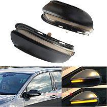 2X Car LED Dynamic Turn Signal Light Side Mirror Indicator Blinker For-VW Golf 6 MK6 GTI 6 R20 MKVI Touran