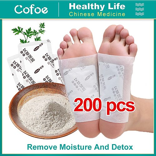 Cofoe Detox Foot Patches Improve Sleep Slimming Feet Stickers toxin feet pads Dispel Dampness 200/100Pcs (Patches+ Adhersives)