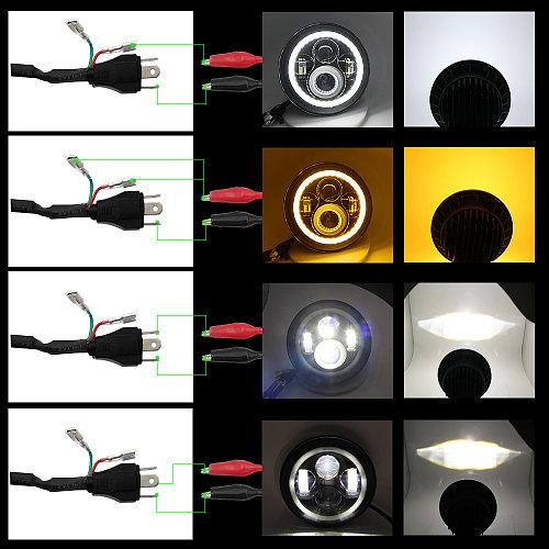 CO LIGHT 6D 2020 New 7  LED Headlight Halo 80W Turn Signal Hi/Low Amber Angle Eyes DRL for Lada Niva Urban Off Road 4x4 12V 24V