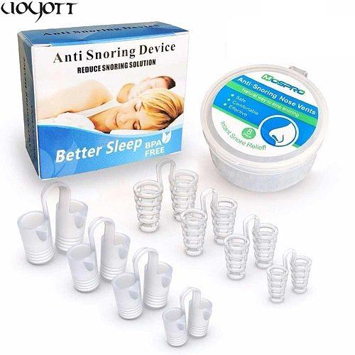 8Pcs/Box Anti Snore Apnea Nose Clip Anti-Snoring Breathe Aid Stop Snore Device Sleeping Aid Equipment Stop Snoring