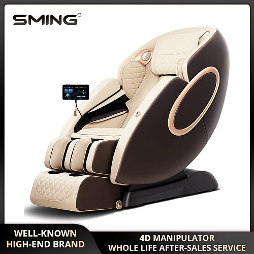 SMing 960L 145cm SL 4D Manipulator Massage Chair Electric Luxury Zero Gravity Massage Chair Sofa with Health Check Function