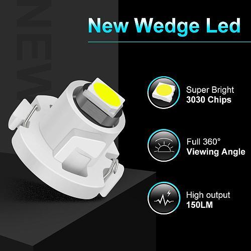10Pcs T3 LED T4.2 T4.7 Led Bulb Canbus 3030SMD Car Interior Lights Indicator Wedge Dashboard Warming Instrument Lamp 12V Auto