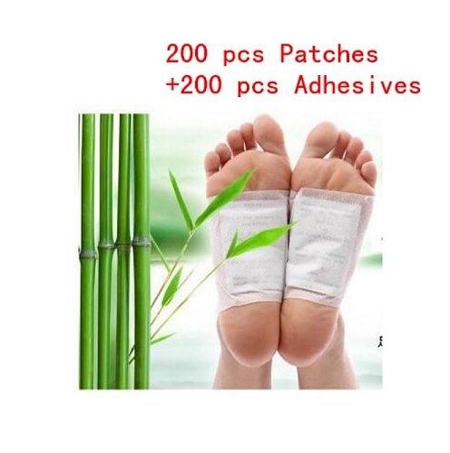 400 Pcs/lot Detox Foot Patches Pads Body Toxins Feet Cleansing Herbal Adhesive (200pcs Patches+200pcs Adhesives) Health Care