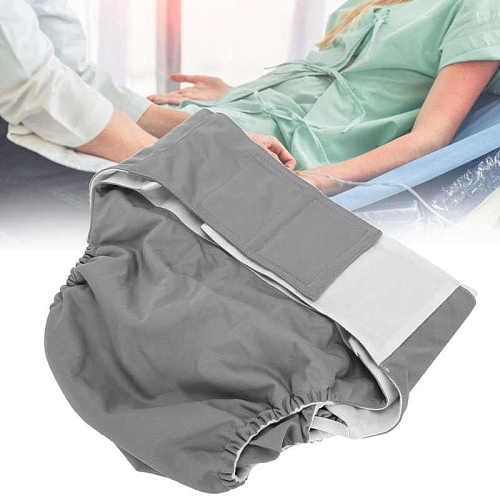 Reusable Adult Diaper Adult Washable Cloth Diaper Waterproof Breathable Elderly Incontinence Care Diapers for Elderly Disabled