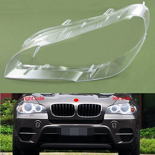 For BMW X5 E70 E71 2007 2008 2009 2010 2011 2012 2013 Headlight Cover Shade Headlamp Shell Lampshade Lens Glass
