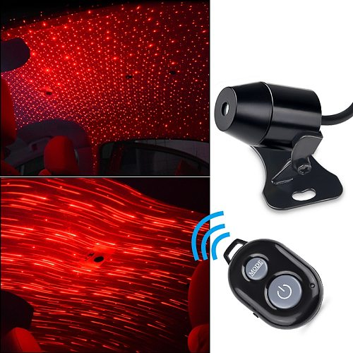 USB Atmosphere LED Star Light Car Interior Lamp Romantic Car Roof Night Light Full Star Projection Laser for Car Home Party