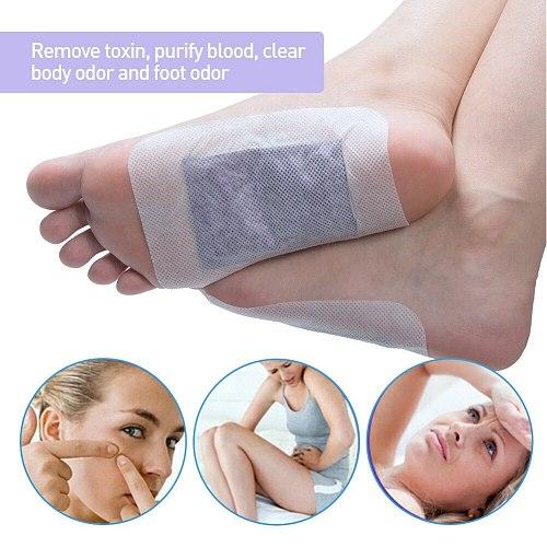 12pcs/Box Lavender Essential Oil Bamboo Vinegar Detox Feet Slimming Cleansing Herbal Body Health Adhesive Pad Weight Loss