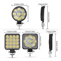 Car LED Work Light COB Chips 27/ 48 watts DC 12/ 24 Volts 6500K White Spot Lighting for FSO Universal Truck Auto Bulbs