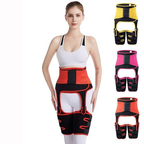 3in1 hip lifting belt burst sweat Sports and bodybuilding Abdominal band Adjustable Leg strap Waistband ceinture de sueur