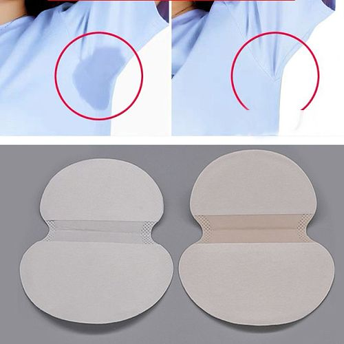 50Pcs Underarm Armpit Sweat Pads Sweat Free Armpit Protection for Men and Women Comfortable Non Visible Disposable
