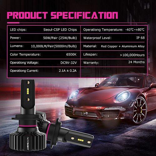 NOVSIGHT H7 LED Light H1 LED Car Headlight H4 LED Lamps H11 Turbo Lights Bulb 9005 HB3 9006 HB4 LED Headlamp 10000LM Fog Lamp