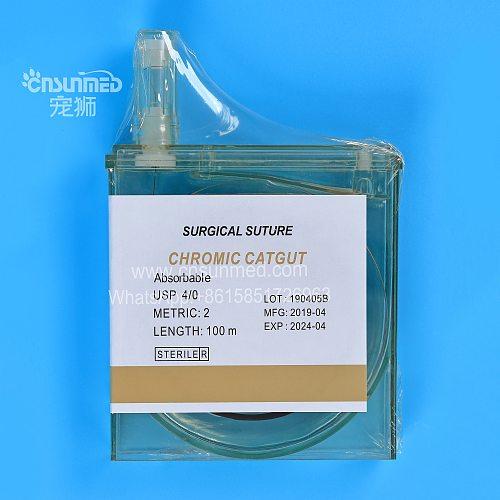 Cassette Suture Chromic Catgut Sterile Surgical