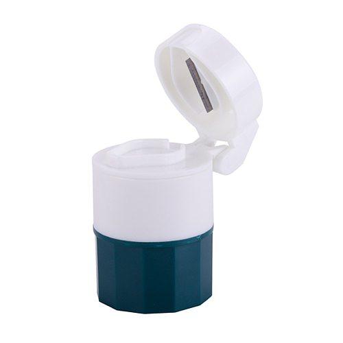 4 Layer Pill Box Cutter Medicine Crusher Grinder Splitter Tablet Cutter Divider Storage Case Pill Box Cutting Tablets